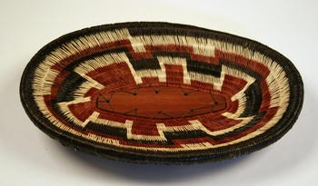 Werregue Basket and Wood Tray Colombia Museum Quality