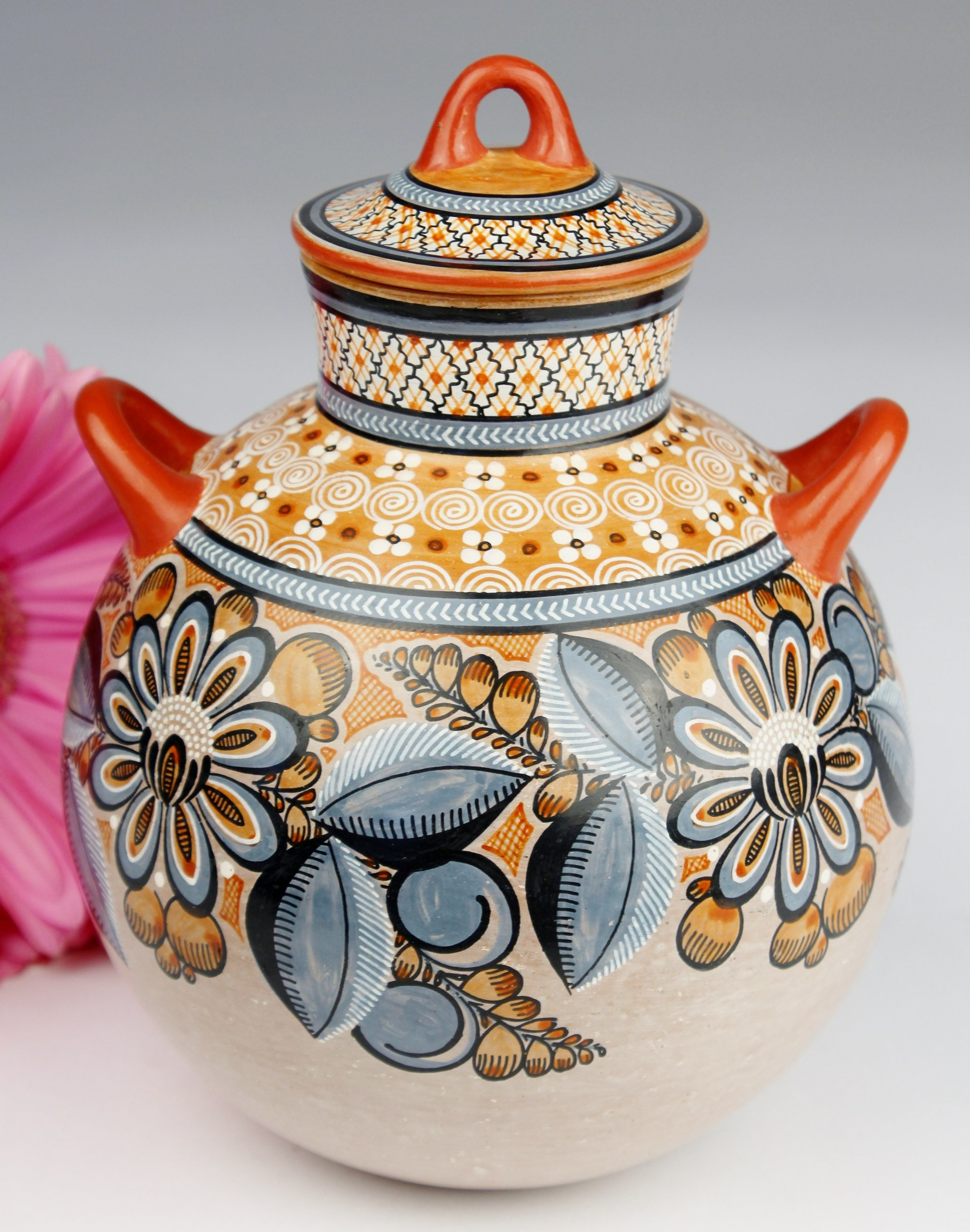 Fernando Jimon Tonala Clay Ceramics Burnished Pottery Great Masters Of Mexican Folk Art Floral And Geometric Design