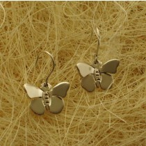 Taxco .925 Sterling Silver Citlal Castillo Butterflies in Flight Earrings