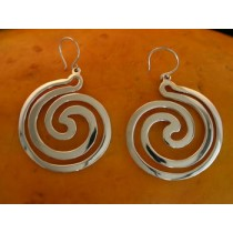Taxco .925 Sterling Silver Citlal Castillo Circular Swirls Earrings