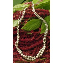 Taxco .925 Sterling Silver Citlal Castillo Winding Silver Beads Necklace