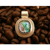 Taxco .925 Sterling Silver Dichroic Glass Pendant