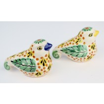 Gorky Gonzalez Majolica Ceramic Dove Birds Salt And Pepper Shakers