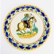 Gorky Gonzalez Majolica Ceramic Small Medium Cowboy on Horseback Plate