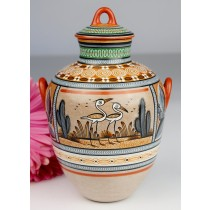 Fernando Jimon Tonala Clay Ceramics Burnished Pottery Great Masters Of Mexican Folk Art Storks And Deer Design