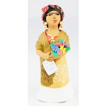 Leticia Garcia Aguilar Frida Kahlo Letter To Trotsky Clay Figurine