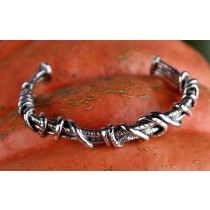 Taxco .925 Sterling Silver Citlal Castillo Silver Wrapped Cuff Bracelet