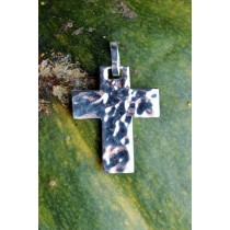 Taxco .925 Sterling Silver D'Escorcia Hammered Cross
