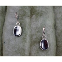 .925 Taxco Sterling Silver Citlal Castillo Silver Pools Dangling Small Earrings
