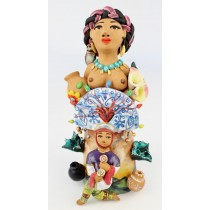 Fran Garcia Vasquez Large Clay Figurine Yo Soy Oaxaca Or I Am Oaxaca Tribute To The Beautiful Traditions Of Oaxaca