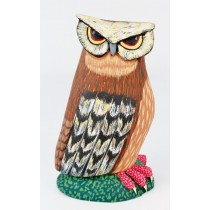 Oaxacan Wood Carving Eleazar Morales One Piece Brown Owl