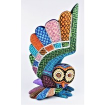 Oaxacan Wood Carving Magaly Fuentes And Jose Calvo Amazing Owl