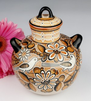 Fernando Jimon Tonala Clay Ceramics Burnished Pottery Great Masters Of Mexican Folk Art Birds And Flowers Design